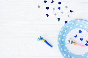 Baby birthday decor.Design space.