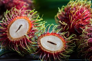 Rambutan in natural conditions