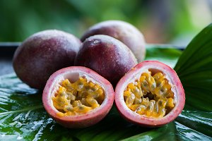 Passion fruit  in natural conditions