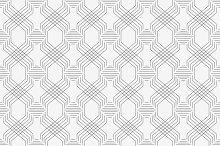 Line seamless pattern vector
