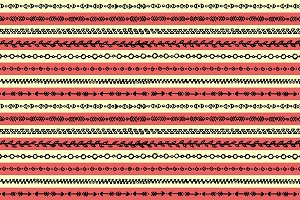 Ethnic tribal sketch pattern vector