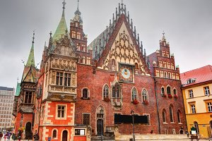 Historical Town Hall in Wroclaw