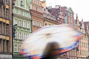 Rainy day in Wroclaw, Poland
