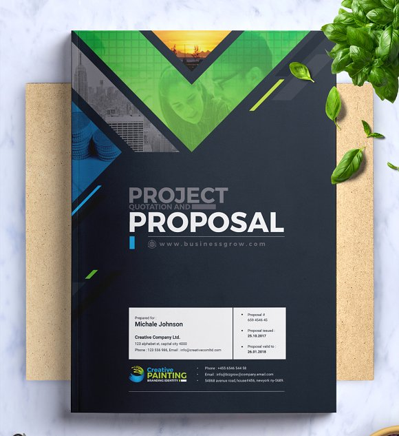 Ms Word Project Proposal Template Stationery Templates Creative