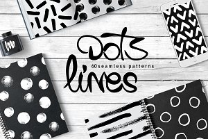 60 Dots&Lines Patterns -Bundle-