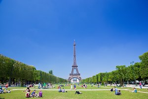 Champ de Mars & Eiffel Tower, Paris
