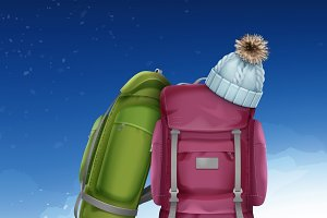 Winter climbing packs