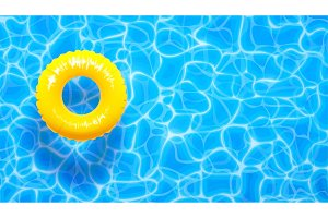 Water pool summer background with