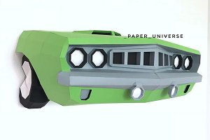 DIY Plymouth Barracuda 3D template