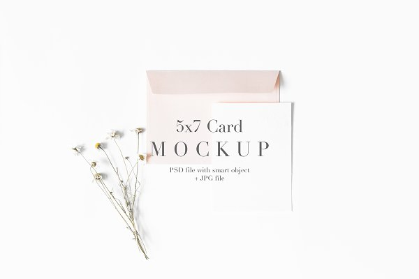 Stationery Mockup Styled 5x7 Card