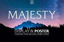 Majesty Display & Poster—2 Font Pack by  in Serif Fonts