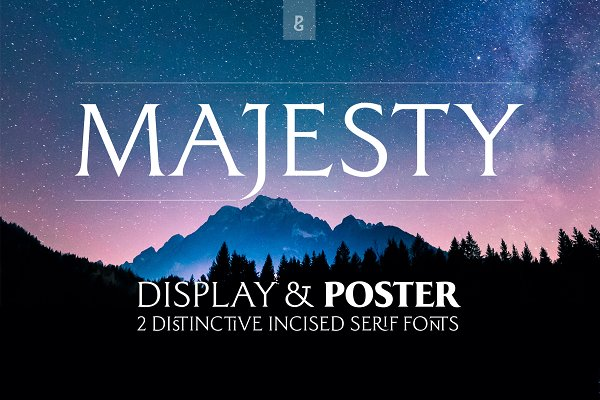 Serif Fonts: Paulo Goode - Majesty Display & Poster—2 Font Pack