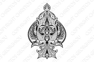 Ace of Spades Icon Shape Abstract