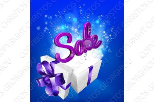Sale Sign Gift Concept