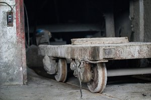 Wagon for transportation of concrete