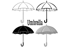 Umbrella Symbol Set