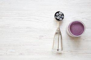 Blueberry ice cream sorbet