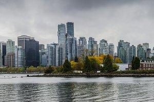 Vancouver autumn cityscape