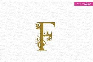 F initial, F monogram , F logo