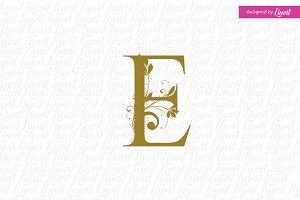 E monogram, E Letter, Monogram E