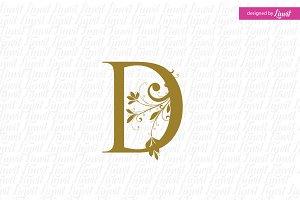 D initial, D letter, D monogram, mon