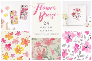Flower Breeze - Seamless Patterns