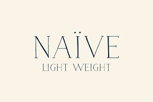Naive Font (Light weight)