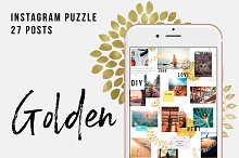 Golden Instagram Puzzle