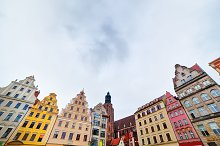 The market square in Wroclaw, Poland