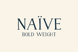 Naive Font (Bold weight)