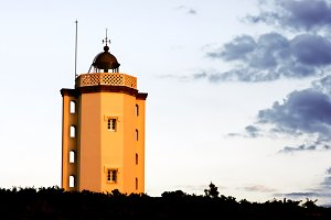 lighthouse with  nice windows