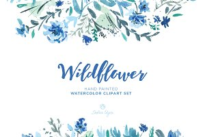 Wildflower Watercolor Floral Clipart