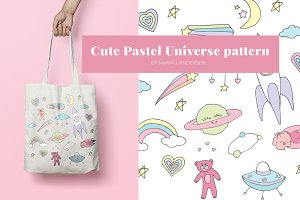Cute Pastel Universe illustrations