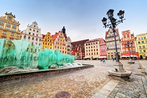 The market square, Wroclaw, Poland