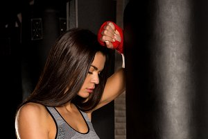 Beautiful female workout functional