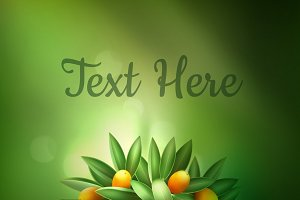 Citrus tree with space for text