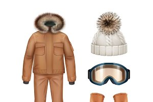 Sport winter apparel set