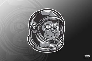 Ape Astronaut Vector