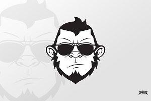 Ape Man Vector Logo Mascot