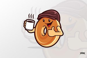 Bagel Coffee Vector