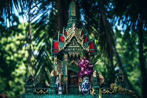 Beautiful Green Thai Shrine