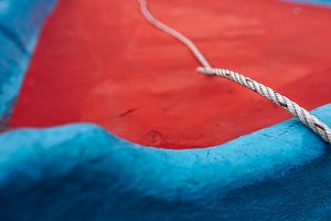 Nautical Rope Inside a Small Boat