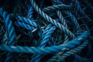 Tangled Blue Nautical Ropes