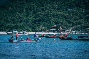 Thai Fishing Crew Going Out