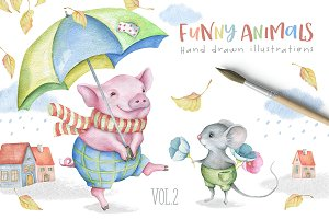 SALE! Funny Animals Kit Vol.2
