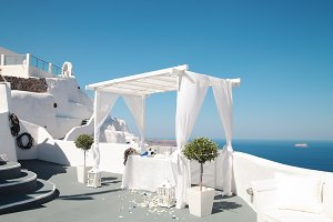 Wedding decoration on Santorini.