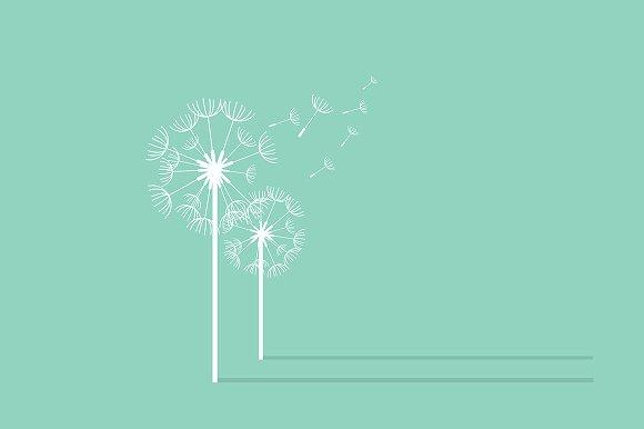 Dandelion Background. Retro Concept - Illustrations