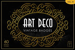 Art Deco Vintage Badges Vol. IV