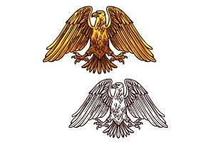 Heraldic eagle of power and strength