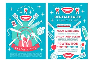 Dental clinic services poster